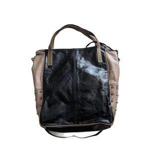 Innue Colorblock Studded Crossbody Bag Leather